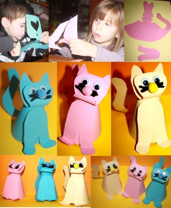 Chats bricolage chat maternelle - Chat a colorier maternelle ...
