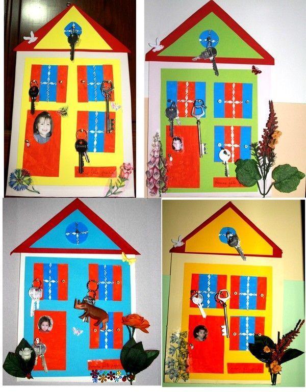 Maison porte cl s bricolage maternelle maison - Petit bricolage maison ...